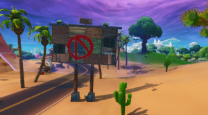 Fortnite-x-Mayhem-Welcome-to-Pandora-Challenge-Vault-Symbol-Location-Back-of-Welcome-Sign-min