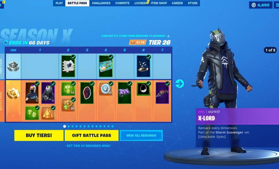 Fortnite Season 10 Battle Pass Skins Price How It Works